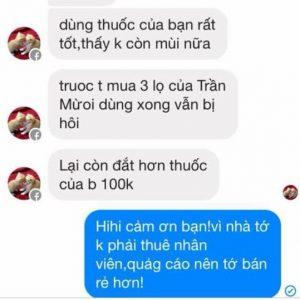 Đặc trị hôi nách nữ Thanh Mộc Hương: