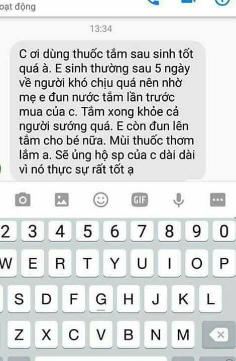 Tắm sau sinh Thanh Mộc Hương