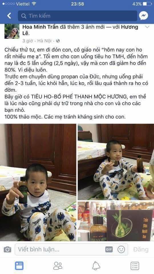 Tiêu ho, bổ phế Thanh Mộc Hương
