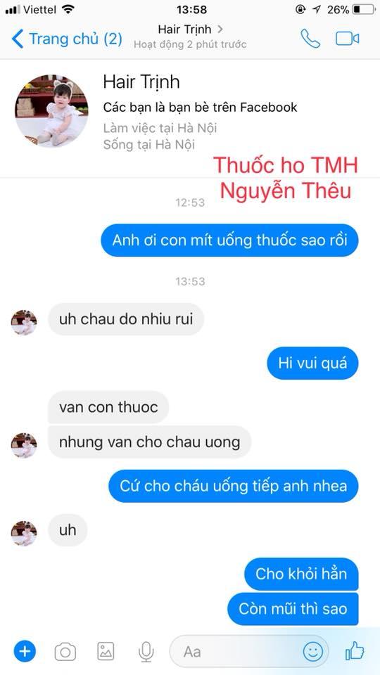 Tiêu ho bổ phế Thanh Mộc Hương - Bổ Phế Thuần Mộc