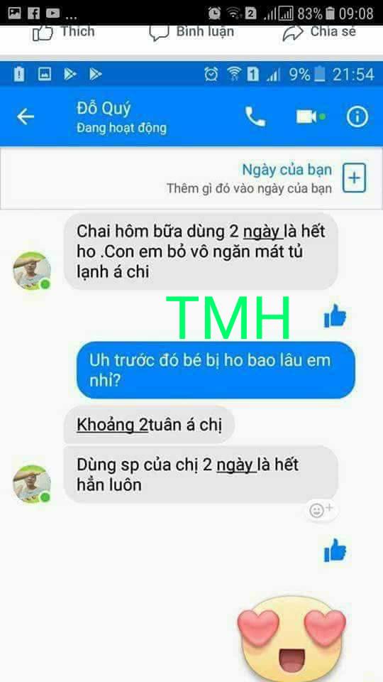 Tiêu Ho Bổ Phế Thuần Mộc Thanh Mộc Hương-Thảo Dược Trị Ho Cho Bé