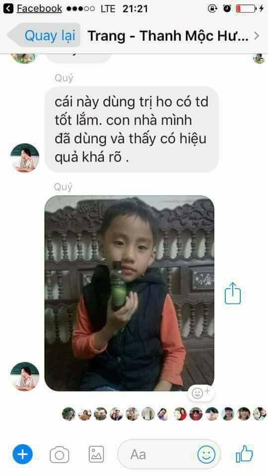 Tiêu ho bổ phế Thanh Mộc Hương