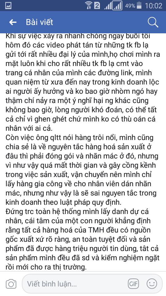 """Xác nhận về thông tin """"Sản phẩm Thanh Mộc Hương không rõ nguồn gốc"""""""