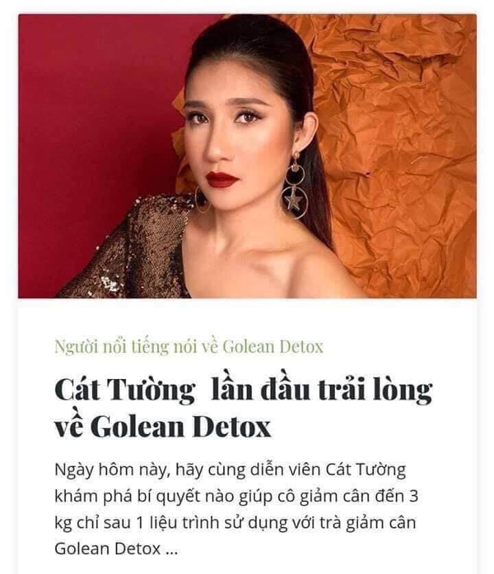 Trà giảm cân Golean Detox bí quyết sở hữu vóc dáng đẹp